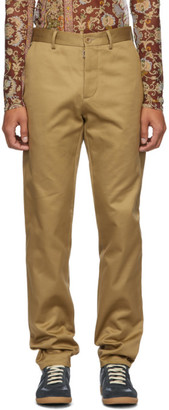 Maison Margiela Beige Mercerized Gabardine Trousers