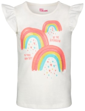 Epic Threads Little Girls Short Flutter Sleeve Graphic Tee