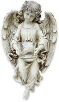 13.5-Inch Angel with Tea Light Holder Garden Ornament in White