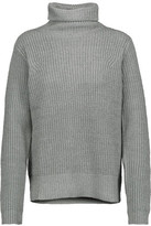 Joie Kajetan Metallic Ribbed Wool-Blend Turtleneck Sweater