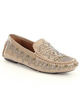 Donald J Pliner Uma Patent Leather Studded Loafers