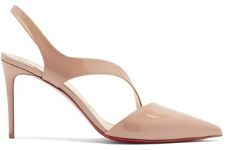 Christian Louboutin Brandina Slingback Patent Leather Pumps - Nude Multi