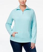 Karen Scott Plus Size Quarter-Zip Top, Only at Macy's