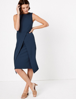 Marks and Spencer Tailored Waisted Midi Dress
