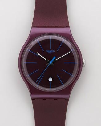Swatch Analogue - BURGUNDAZING - Size One Size at The Iconic
