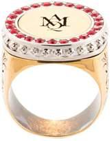 Alexander McQueen logo embossed signet ring