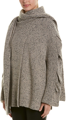 See by Chloe Draped Wool-Blend Cardigan
