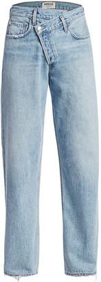 AGOLDE Mid-Rise Crisscross Upsized Jeans