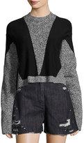 Public School Sana Long-Sleeve Pullover Sweater, Gray