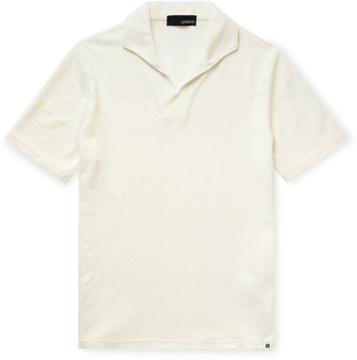 Lardini Slim-Fit Cotton-Blend Terry Polo Shirt