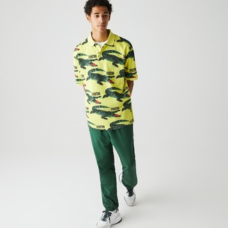 Lacoste Unisex LIVE Chinatown Market Collaboration Loose Fit Polo Shirt