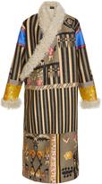 Etro Robe Coat With Kalgan Fur Trim