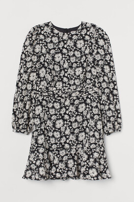 H&M Patterned Dress - Black