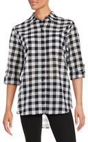 MICHAEL Michael Kors Gingham Button-Front Shirt