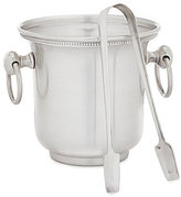Southern Living Antique Silver Ice Bucket with Tongs