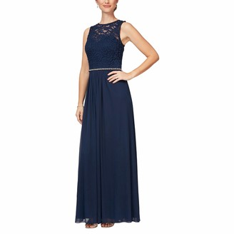 Alex Evenings Women's Long Sleeveless A-Line Dress (Petite and Regular)