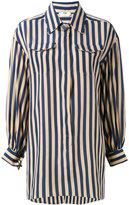 Fendi striped long sleeve shirt - women - Silk - 38