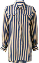 Fendi striped long sleeve shirt - women - Silk - 40