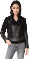 Blank Sherpa Combo Moto Jacket