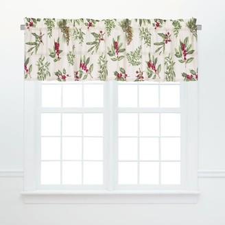 C&F Home Winter Botanical Window Cotton Window Curtain Valances