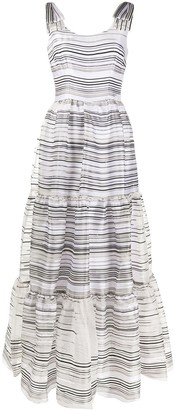 Goat Jupiter striped panel dress