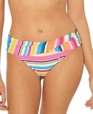 BLEU by Rod Beattie Striped Sarong Hipster Bikini Bottoms Women's Swimsuit