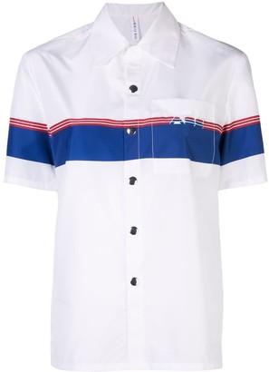 Adam Selman Coach logo stripe shirt
