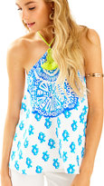 Lilly Pulitzer Selin Silk Halter Top