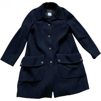 Chanel Navy Wool Coats
