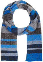 The Elder Statesman MEN'S STRIPED RIB-KNIT SCARF