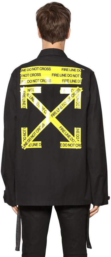 Off-White Off White Fire Line Tape Cotton Canvas Jacket