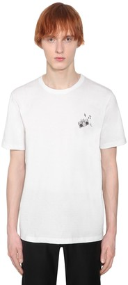 Saint Laurent Radio Print Cotton Jersey T-Shirt