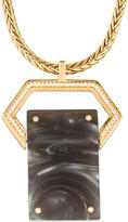 Rachel Zoe Resin & Crystal Pendant Necklace