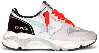 Golden Goose Running Sole Sneaker in White, Lavender, Titan, Aquamarine & Black | FWRD