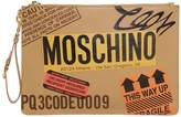 Moschino Cardboard Box Leather Clutch