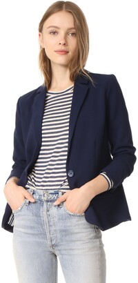 Cupcakes And Cashmere Women's Corvin Fitted Blazer with Striped Lining