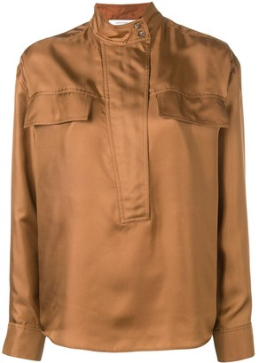 Cédric Charlier Mandarin Collar Shirt