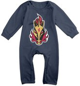 Enlove Calgary Flames Rapidash BABY Funny Long Sleeves Baby Onesies Bodysuit For Girls