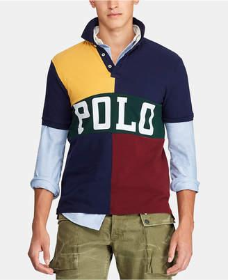 Polo Ralph Lauren Men Classic-Fit Color Block Mesh Polo Shirt