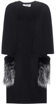 Fendi Fox Fur-trimmed Cashmere Coat