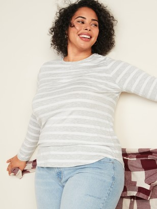 Old Navy Luxe Striped Plus-Size Long-Sleeve Tee