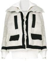 Sacai boucle layered jacket