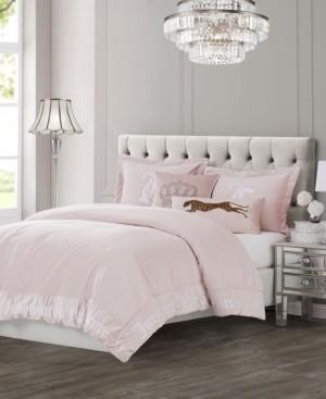 Juicy Couture Velvet 3-Piece King Comforter Set Bedding