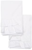 Melange Home Double Ruffle Cotton Percale Pillowcases (Set of 2)