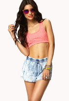 Forever 21 Cloud Wash Athletic Shorts