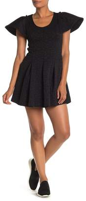 Opening Ceremony Puckered Texture Jersey Fit & Flare Dress
