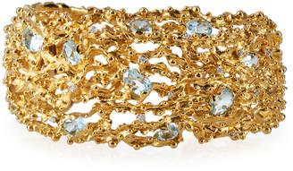 Michael Aram 18k Ocean Caged Bracelet w/ Topaz & Diamonds