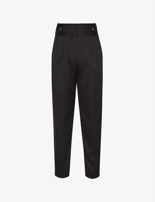 Reiss Stanton cropped slim-fit woven trousers