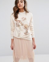 Miss Selfridge Embellished Sequin Sweatshirt