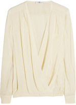 DAY Birger et Mikkelsen Lightweight crepe wrap-effect blouse